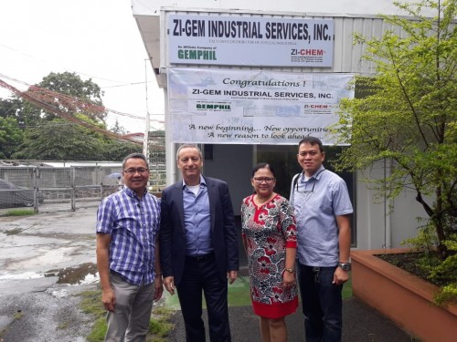 Zuellig Industrial appoints ZI-GEM Industrial Services, Inc. as exclusive distributor of ZI-Chem products in Philippines